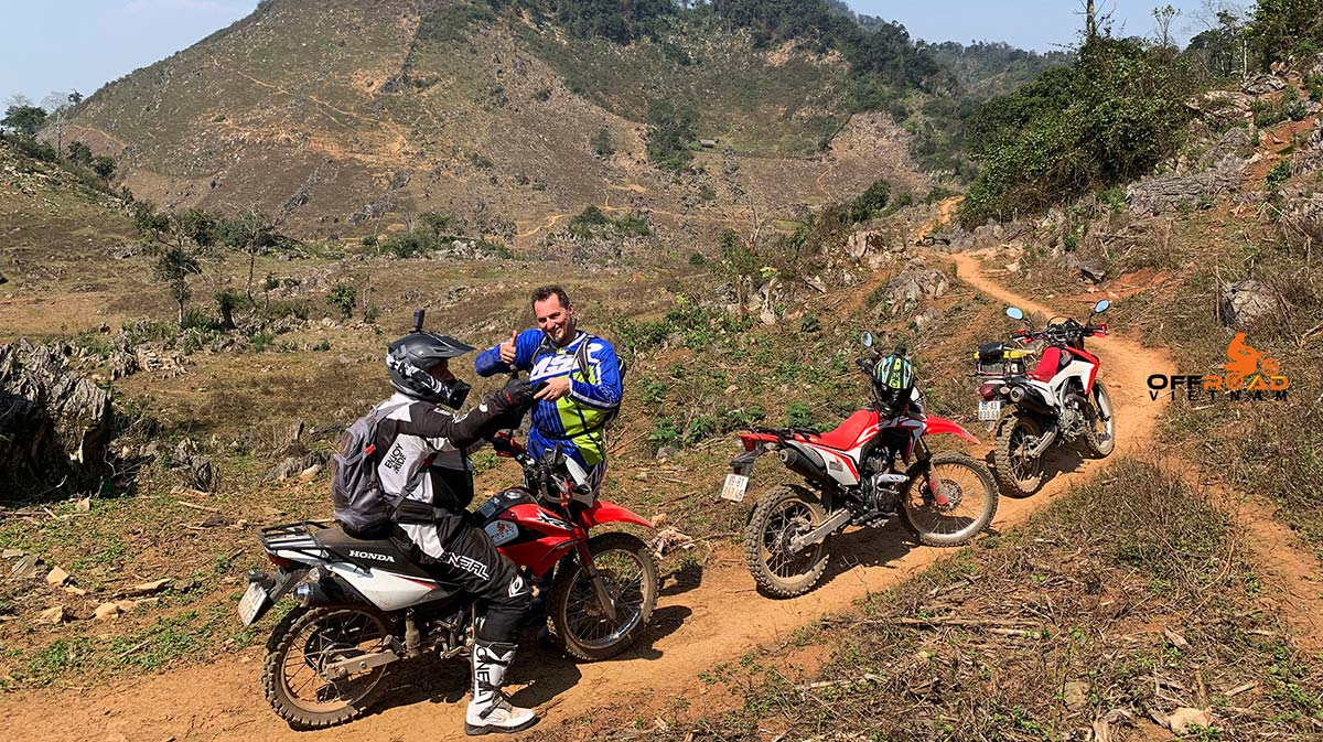 16-day trip on motorcycles riding through North Vietnam in a big loop.