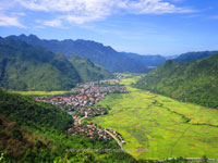2-day trip on motorbike To Mai Chau in Hoa Binh province. Vietnam motorcycle tours