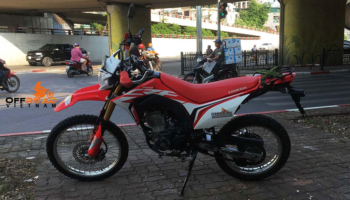 Hidden Vietnam motorbike fleet - Honda dual enduro CRF150L.