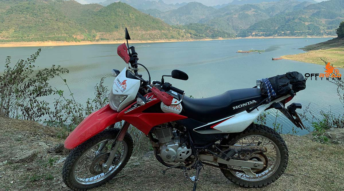 Hidden Vietnam Honda XR150L 150cc rental in Hanoi.