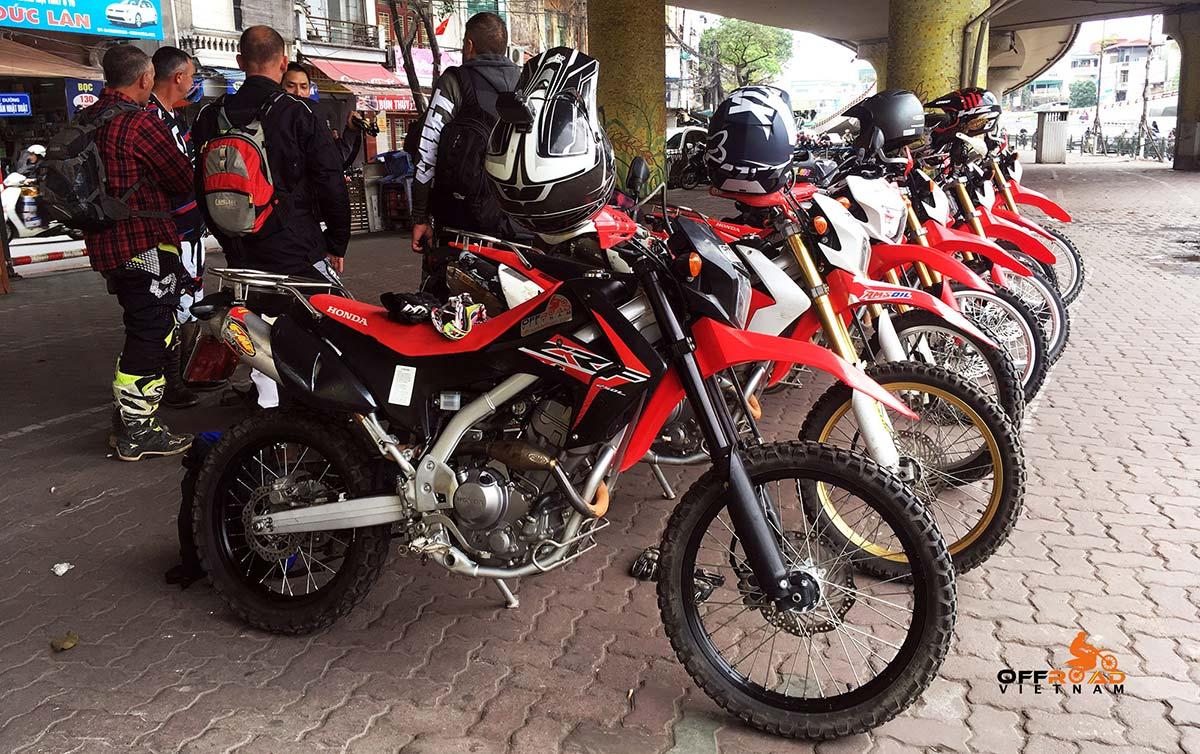 Hidden Vietnam Motorbike Hire. Honda CRF250L 250cc dual enduro.