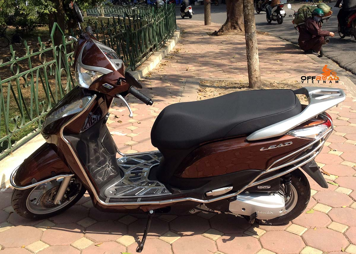 Hidden Vietnam fully-automatic scooter Lead 125cc hire in Hanoi.