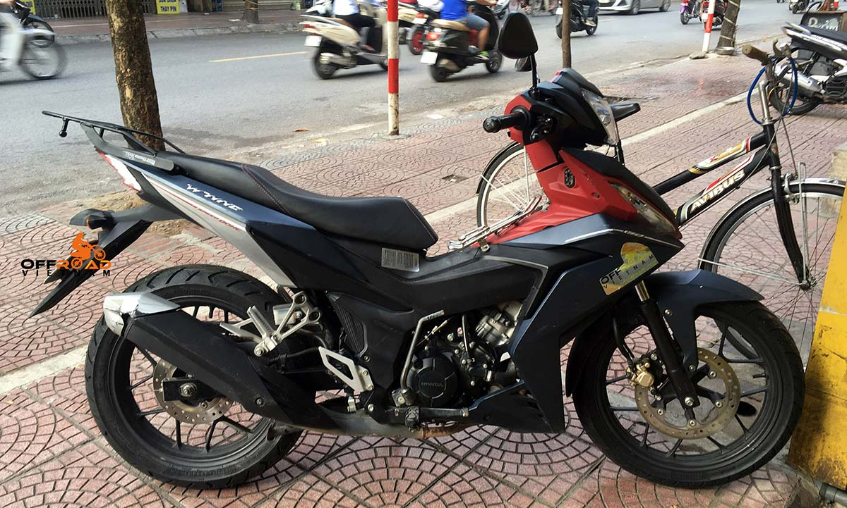 Hidden Vietnam touring scooter hire Honda Winner 150cc.