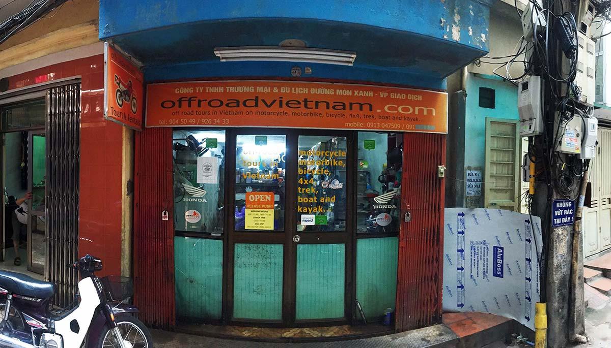 Hidden Vietnam Motorbike Tours - Contact Us: Office photo in Hanoi.