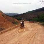 Dirt road on Northeast Vietnam tour.