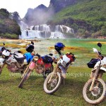 Hidden Vietnam Motorcycle Tours' off-road motorbike and motorcycle tours, starting from Hanoi and ride Northern Vietnam mountains. Ban Gioc motorcycle tour.