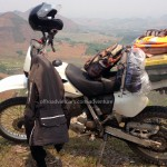Hidden Vietnam Motorcycle Tours is proud to show you some photos of motorcycle tours that our customers and guides took during their trips in Vietnam. Honda XR250 full loaded.